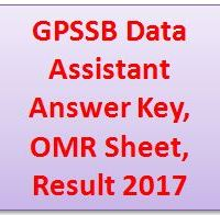 GPSSB Data Assistant Answer Key