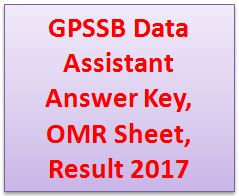 GPSSB Data Assistant Answer Key