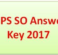IBPS SO Answer Key 2017
