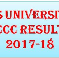 ms university ccc result 2017