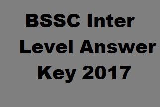 BSSC Answer Key 2017
