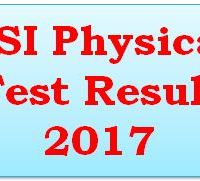 PSI Physical Test Result 2017 Online