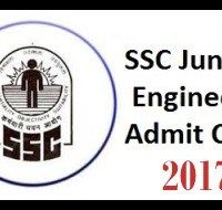 Download SSC JE Admit Card 2017