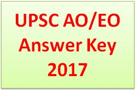 UPSC AO/EO Answer Key 2017