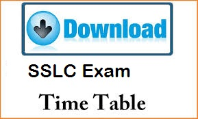 Tamil Nadu Board SSLC Exam Time Table