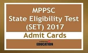 MPPSC State Eligibility Test SET 2017