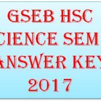 GSEB HSC Science Sem 4 Answer Key 2017