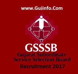 Gujarat SSSB Recruitment 2017