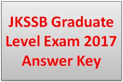 JKSSB Graduate Level Exam 2017 Answer Key