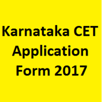 Karnataka CET Application Form 2017