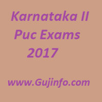 Karnataka II Puc Exams 2017