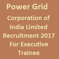PGCIL Recruitment 2017