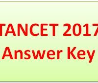 TANCET Answer Key 2017