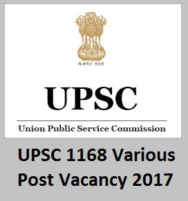 UPSC Recruitment 2017