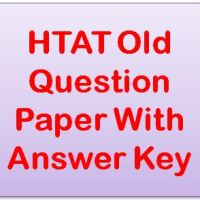 HTAT Old Question Paper With Answer Key