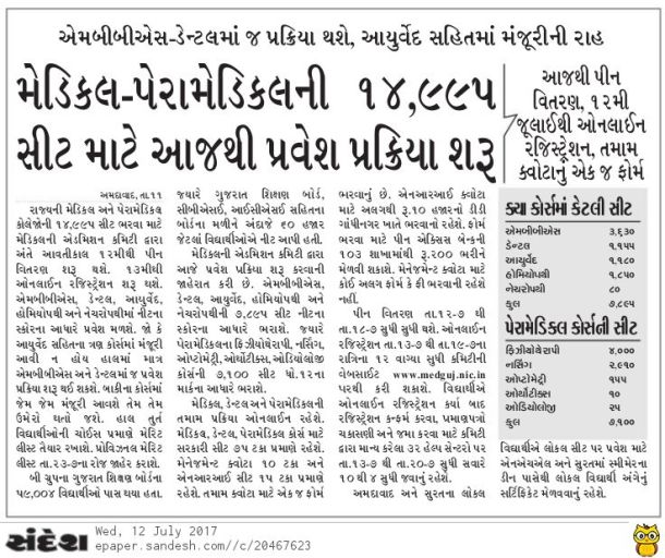 Gujarat Medical Admission
