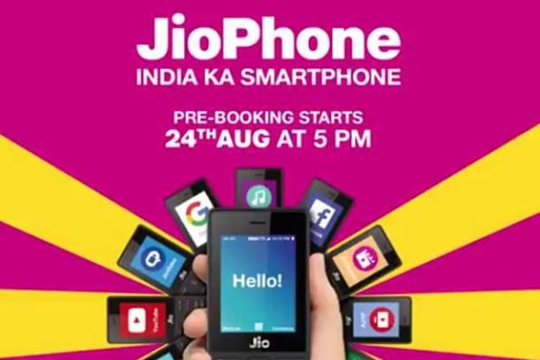 Jio Phone Booking 24 august