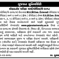 Gujarat University External Exam Form