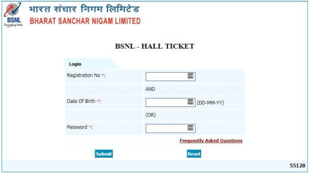 BSNL JAO Admit Card