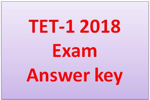 TET 1 Answer Key 2018