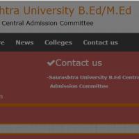 Saurashtra University B.Ed/M.Ed Admission