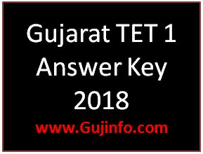 TET 1 Answer key 2018