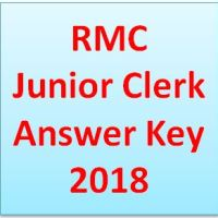 RMC Junior Clerk Answer Key 2018