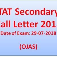 TAT Secondary Call Letter 2018