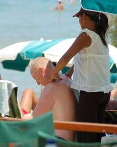 Massage du dos en couple
