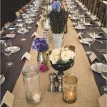 Longue table de mariage