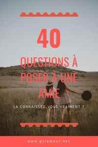 40 questions à poser à une amie