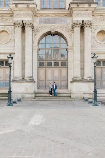 Séance photo au Louvre