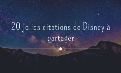 Citation de Disney