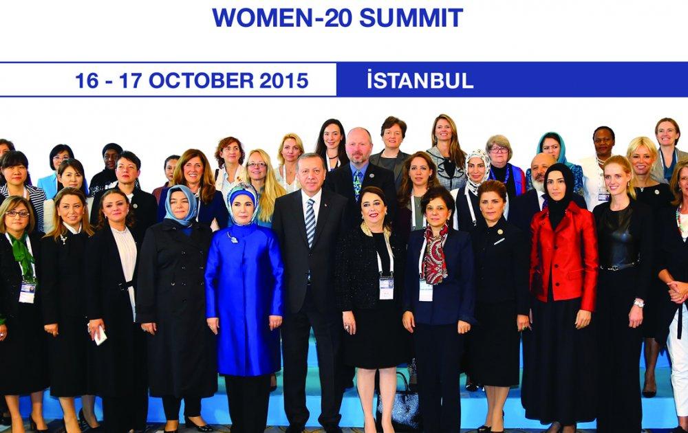 Women 20 Summit Gülden Türktan, Tayyip Erdoğan, Emine Erdoğan