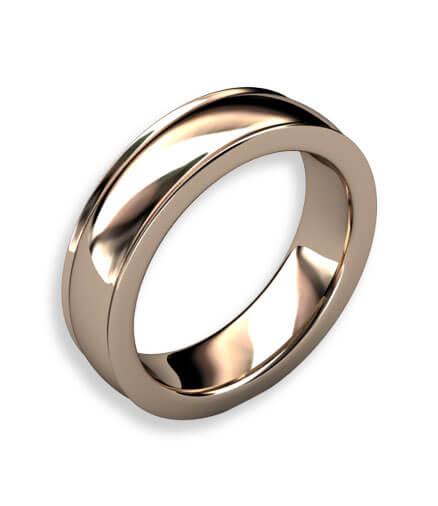 förlovningsring i 18 k rött guld