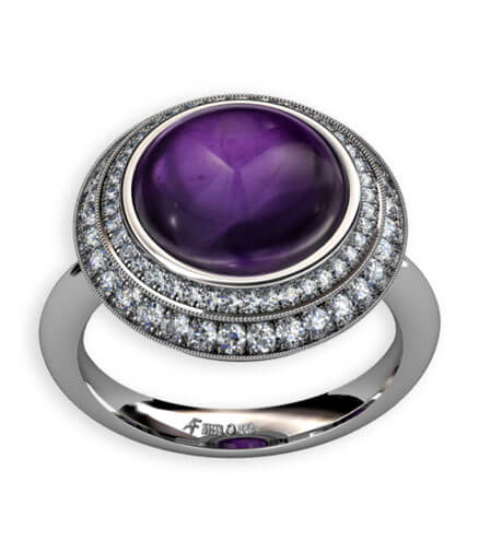 milligriff briljantslipade diamanter ametist