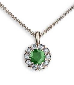 hängsmycke med turmalin och diamanter