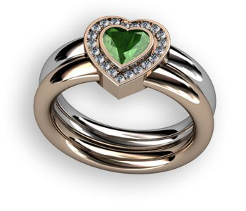 design av egen ring med hjärta