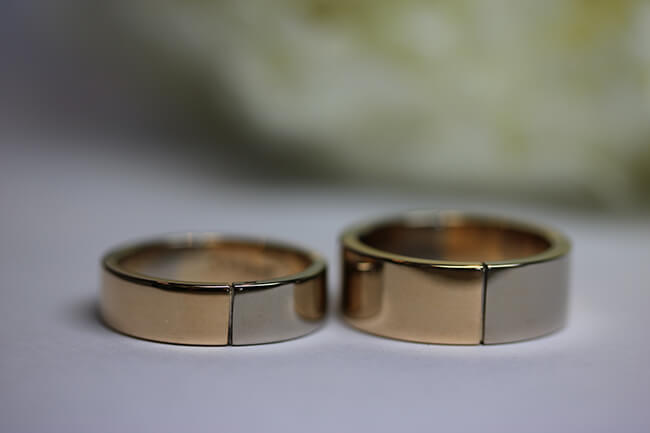 breda handgjorda guldringar