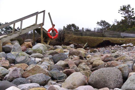 Stormen Bodil hærger iUdshold strand