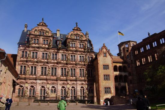 Renæssance slotet i Heidelberg