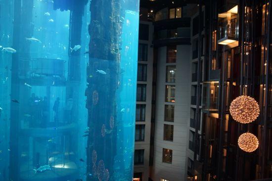 Verdens største cylinderformede akvarium