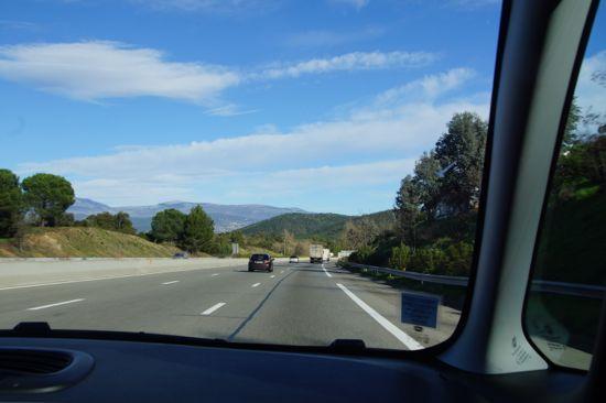 Motorvejen mellem Cannes og St. Raphael