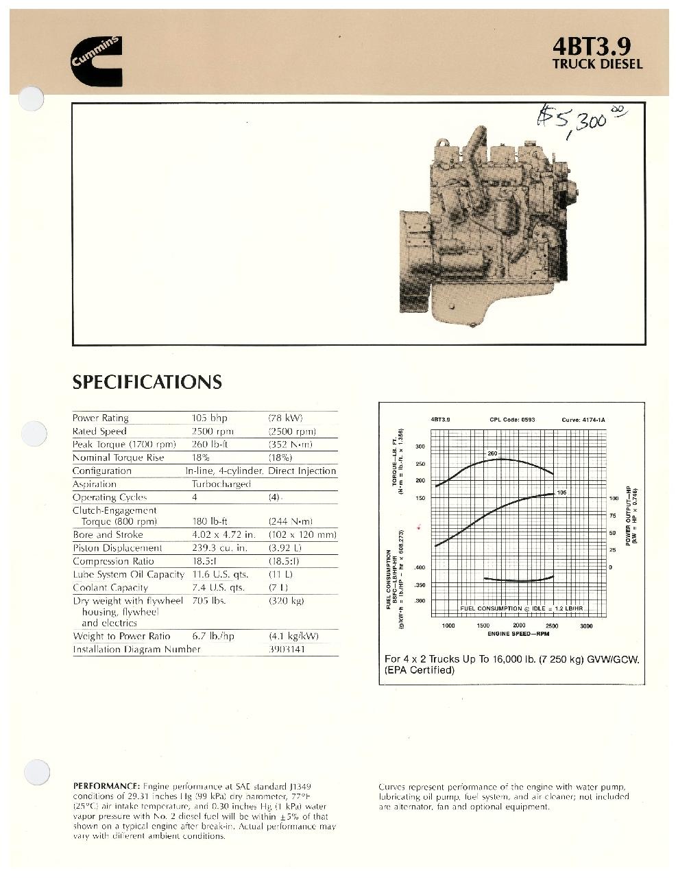 hight resolution of cummins 4bt 3 9l complete engine gulf industrial enginescummins 4bt 3 9 engine specifications