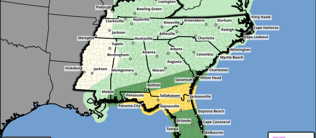 Strong/Severe Storms Possible Across South AL and FL Panhandle Tonight and Tomorrow