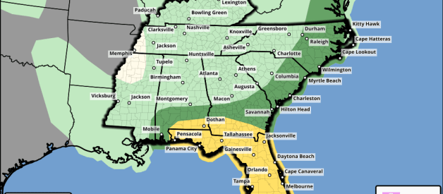 Severe Storms Possible Across South AL and FL Panhandle This Afternoon/Evening