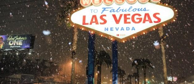 Las Vegas Gets Rare Snowfall