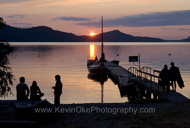 Relaxing with a sunset at Breezy Bay, Saturna Island