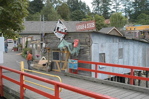 The ferry dock at Fulford Harbour. Salt Spring Island, British Columbia
