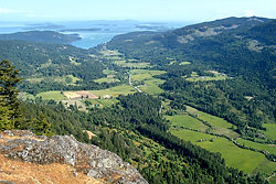 The view of the Fulford Valley from Mount Maxwell Provincial Park, Salt Spring Island, British Columbia